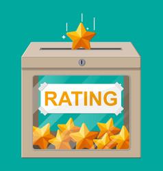 rating box reviews five stars vector image