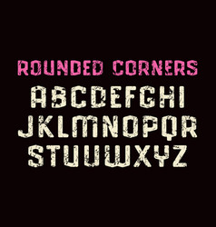 sanserif font in sport style with rounded corners vector image