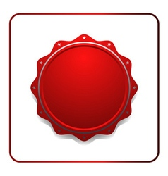 Seal award red icon vector