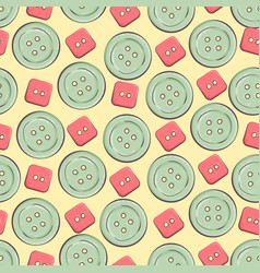 Seamless background with colorful buttons vector