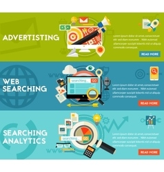 Searching analytics advertising concept vector