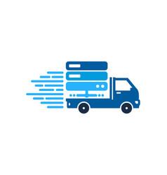 Server delivery logo icon design vector