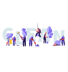 Service professional cleaners work concept vector