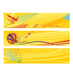 set hot travel banners vector image