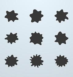 Set of blots or blobs vector