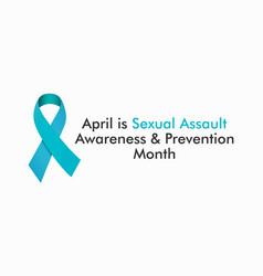 Sexual assault awareness month vector