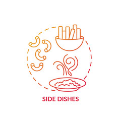 side dishes concept icon vector image