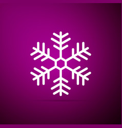 snowflake icon isolated on purple background vector image