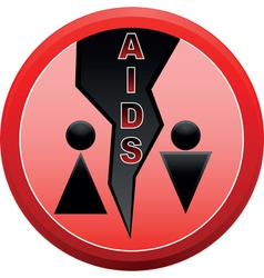 stop aids sign vector image