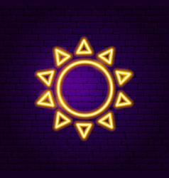 sun neon label vector image