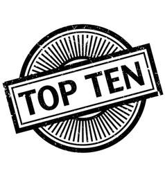 Top ten rubber stamp vector