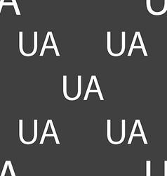 Ukraine sign icon symbol UA navigation Seamless vector image
