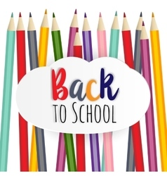 Welcome back to the school vector image