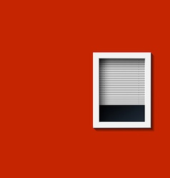 Window on a red wall vector
