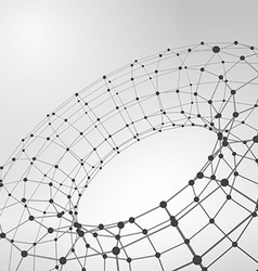 Wireframe polygonal element 3D Torus with lines vector image