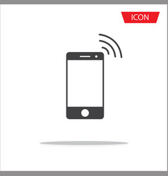 wireless icon mobile phone wireless symbol vector image