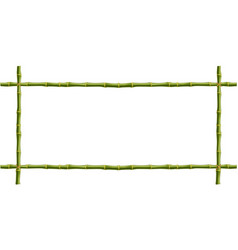 wooden frame of green bamboo sticks with space vector image