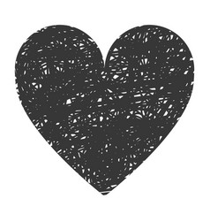 black big heart icon vector image