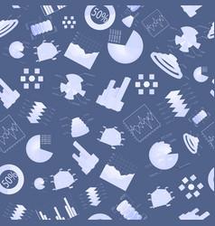 diagramms seamless pattern vector image vector image