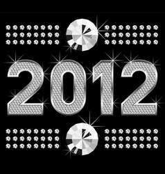 diamond numbers 2012 means happy new year vector image