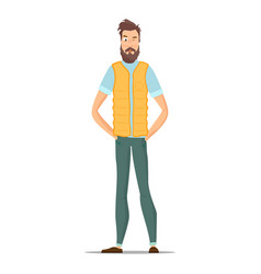 funny bearded hipsters isolated on white vector image vector image