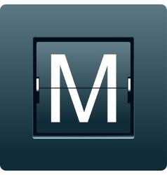 Letter m from mechanical scoreboard vector