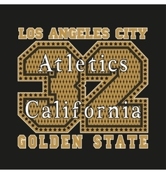 Los Angeles CA atletics golden fashion vector image vector image