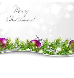New Year Card With Garland And Ball vector image vector image
