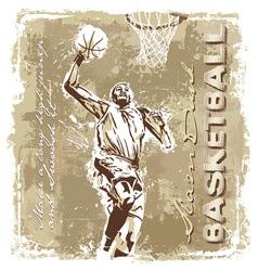 slam dunk basketball champ vector image vector image