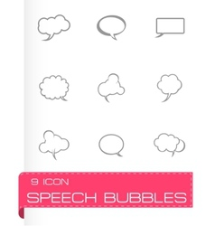 speech bubbles icon set vector image