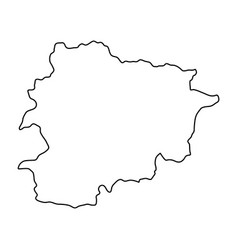 andorra map of black contour curves on white vector image vector image