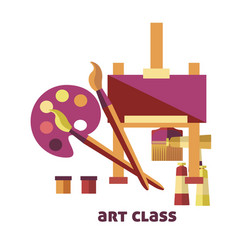 art class equipment to create pictures promo vector image