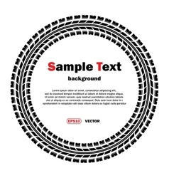 Circle tire track with text vector image vector image