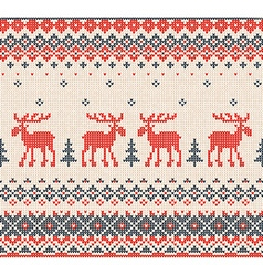 Scandinavian or Russian flat style knitted pattern vector image vector image