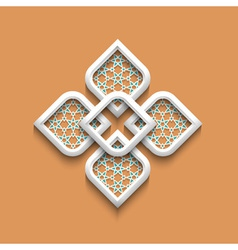 3d elegant pattern in arabic style vector