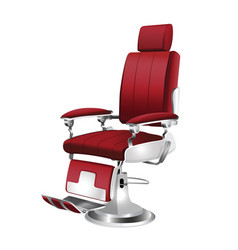 barber chair vintage vector image vector image