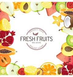 Bright background with fresh fruits vector image
