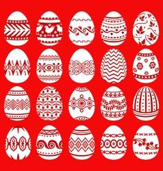 easter egg set red vector image
