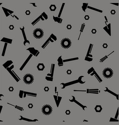instruments silhouette seamless pattern vector image vector image