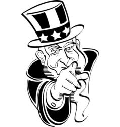 Patriotic American President vector image vector image