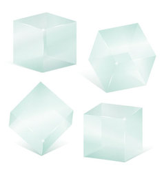 Transparent glass cubes vector image vector image