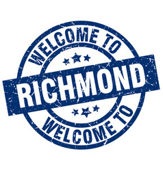 Welcome to richmond blue stamp vector