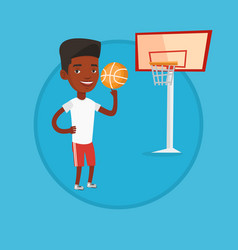 african basketball player spinning ball vector image