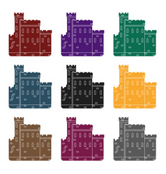 concrete castle with peaks in scotland vector image
