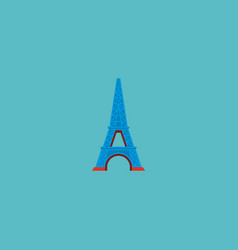 icon flat eiffel tower element vector image vector image