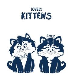 lovely kittens vector image