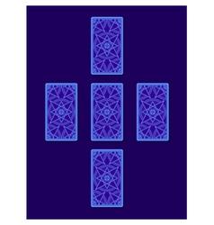 Simple cross tarot spread Tarot cards back side vector image vector image