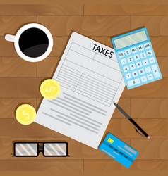 tax calculate business vector image