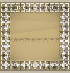 3d frame in arabic style vector