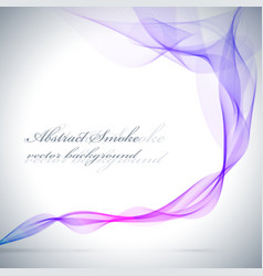Abstract blue colored smoke background vector image